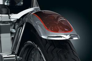 Kuryakyn Fender Tips for Narrow Tire Front Fenders (Leading Edge)