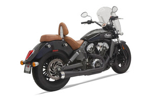 Bassani 2-into-1 Long Megaphone Exhaust for '14-Up Indian Scout Black