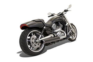 Bassani 4 Inch Slip On Mufflers for '09-Up VRSCF Models -Straight-Cut, Black