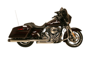 Rush Racing Big Louie 4 inch Mufflers  for 2017-Up Harley Davidson Touring Models Models  -Chrome Tip Compatible