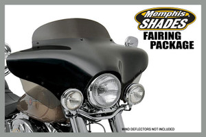 Memphis Shades  Complete Batwing Fairing Package for '11-Up Stryker -Choose your height/style -Choose your color -Choose your hardware
