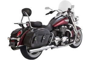 Vance & Hines  4-inch Twin Slash Slip-On Mufflers for Triumph Commander & LT '14-15 -Chrome