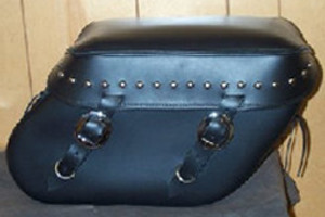 Leather Pro 3100 Series Leather Saddlebags for Dyna '93-Up (Click for Details)  -Studded Valence