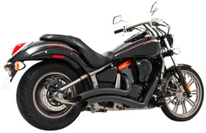 Freedom Performance Sharp Curve Radius Exhaust for '06-up Vulcan 900 -Black
