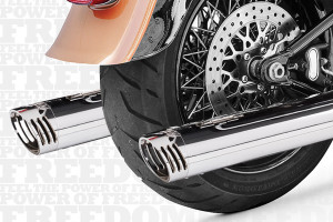 Freedom Performance  3¼ inch Racing Slip Ons for '07-15 FXSTS/FXSTB/FXSTFLSTC/FLST/FXCWC -Chrome
