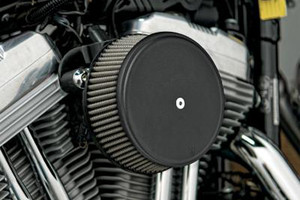 Arlen Ness   Big Sucker Stage 1 Performance Air Filter Kits with Cover for '08-16 Harley Davidson Touring & H-D Trikes -Black, Standard Filter