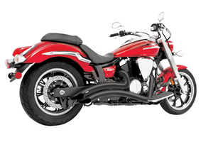 Freedom Performance Sharp Curve Radius Exhaust for '10-15 Fury/Sabre/Stateline/Interstate 1300 -Black