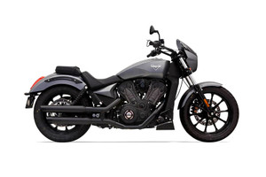 Bassani 3 inch Performance Slip on Mufflers for the Victory Octane Black
