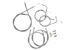 "Baron Stainless Handlebar Cable & Line Kit for Road Star 1600  '99-03 -12""-14"" Bars"