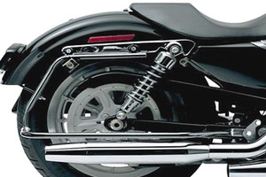 Cycle Visions Bagger-Tail Black bag Mounts for '06-13 FXD (except FXDB, FXDF & FXDWG)  Saddlebags sold separately
