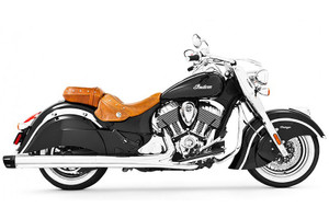Freedom Performance Combat 4.5 inch Slip-On Exhaust  for '14-Up Chieftain, Springfield & Roadmaster  Chrome w/Black Tip