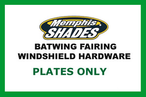 Memphis  Shades  Batwing Plate Only Kit for V-Star 650 Classic/ V-Star 1100 Classic '01-Up-Polished FAIRING, MOUNTING KIT & WINDSHIELD NOT INCLUDED