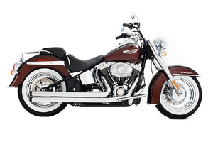 Rinehart 2-Into-2 Churchill Exhaust for Softails '86-Up -Chrome