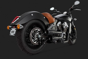 Vance & Hines Hi-Output Grenades 2 into 2 Exhaust for '15 Indian Scout Black
