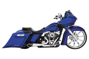 Freedom Performance 2-into-1 Turn Out for '17-Up Harley Davidson Touring Models - Chrome w/ Black Tip