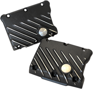 EMD Ribsters Rocker Box Covers for '99 & Up Twin Cam -Black Cut