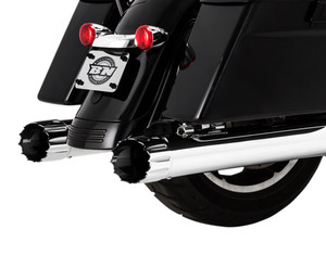 Paul Yaffe's Bagger Nation Cult 45 Slip On Mufflers for Harley Davidson Touring Models '17-Up - Chrome  YafterBurner [1801-1104]