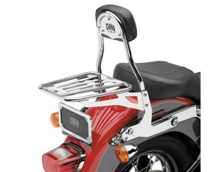Cobra Detachable Backrest for Harley Davidson Softail Models '07-Up - Chrome