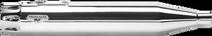 "Arlen Ness 4"" Deep Cut Slip-Ons for '95-16 FL Models -Chrome w/ Chrome End Caps"