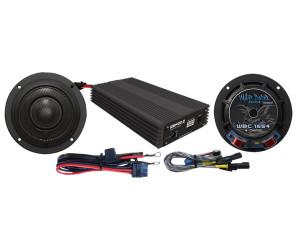 Hog Tunes Wild Boar Audio 400 Watt Amp and Speaker Kit for Harley Davidson Streetglide Models '14-up
