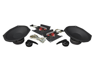 Hogtunes 6x9 Speaker Kit for Harley Davidson Touring Models with HogTunes Speaker Lids '14-Up