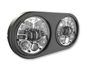 JW Speakers 5.75 inch Adaptive LED Headlights for Harley Davidson Road Glide Models '98-13 - Chrome