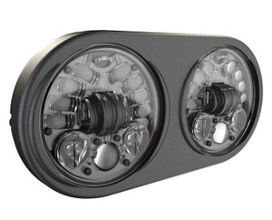 JW Speakers 5.75 inch Adaptive LED Headlights for Harley Davidson Road Glide Models '98-13 - Black