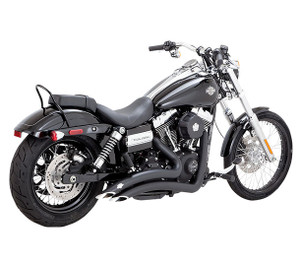 Vance & Hines Big Radius 2-into-2 Exhaust System for Harley Davidson Dyna Models '06-17 - Black