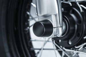Kuryakyn Front Axle Caps for Harley Models (Click for fitment)  - Satin Black