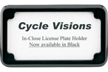 Cycle Visions Beveled License Plate Frame Black Powder