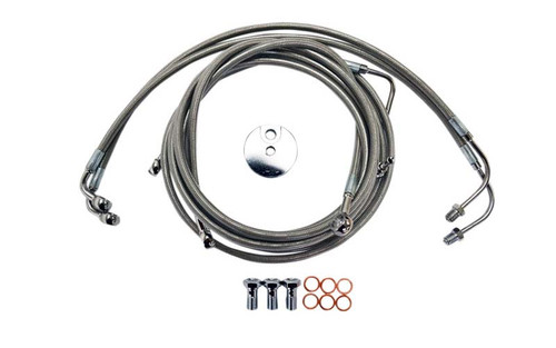 L.A. Choppers Stainless Steel Brake Lines for '09-13 FLHT