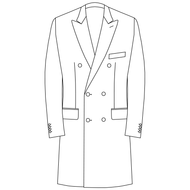 Made to Measure Double Breasted Overcoat - Tweed