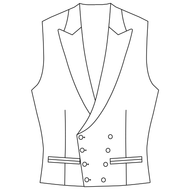 Made to Measure Double Breasted Waistcoat - Tweed
