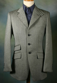 Contrast Grey Tweed Hacking Jacket