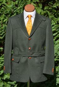 Green Loden Wool Alpaca Full Norfolk Jacket