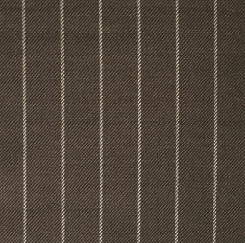 Brown 1.5cm Chalk Stripe