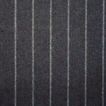 1.5cm Charcoal Chalk Stripe