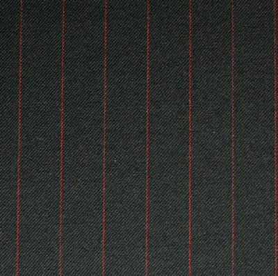 Black 1.75cm Red Pinstripe