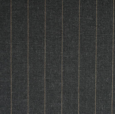 Charcoal 1.75cm Gold Pinstripe