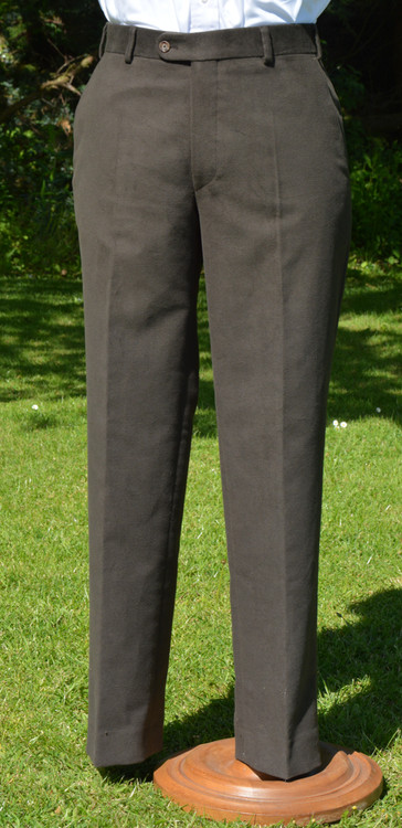 Khaki Brown Moleskin Trousers