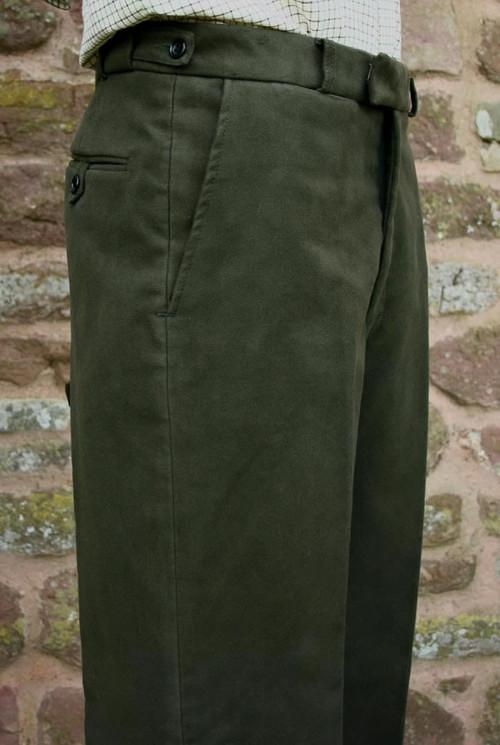 Pinewood Green Moleskin Trousers