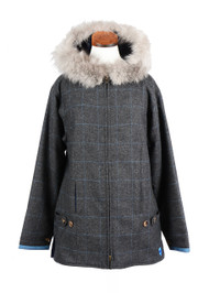 Women's Casual Hooded Tweed Jacket