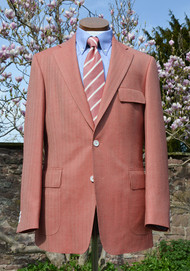 Special Offer - Coral Herringbone Soft Stuctured Classic Jacket 40