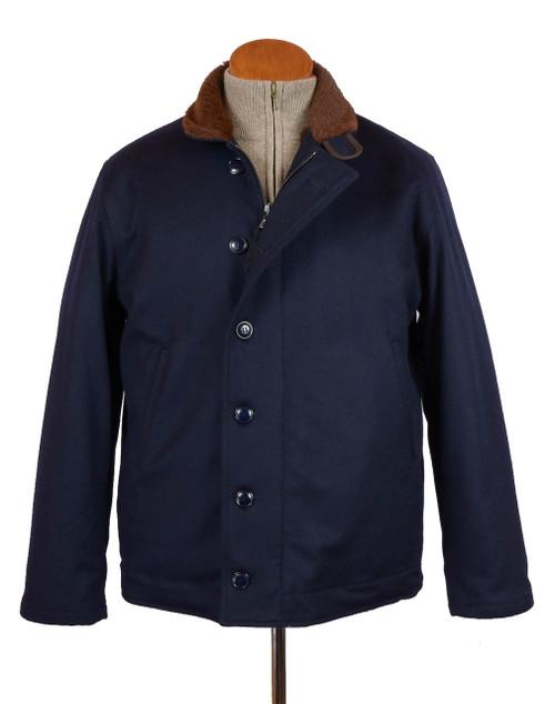 Navy Loden Deck Jacket