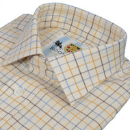 Bookster Tattersall Shirt -  Gold Brown Blue 2