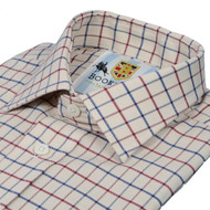 Bookster Tattersall Check Shirt -  Navy Wine