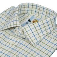 Bookster Tattersall Check Shirt -  Blue Green