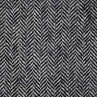 2m Black & White Herringbone Donegal Tweed