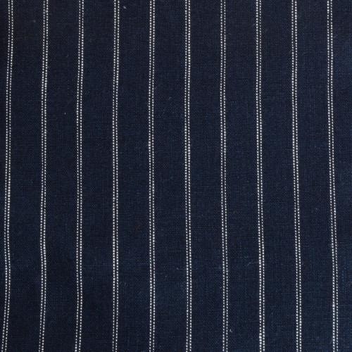Navy Stripe Linen