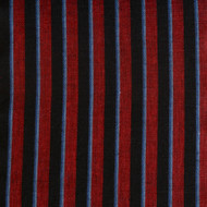 Navy Wine Stripe Linen